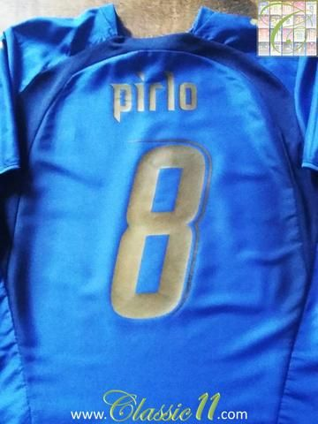 Relive Andrea Pirlo's 2006 international season with this original Puma Italy home football shirt.