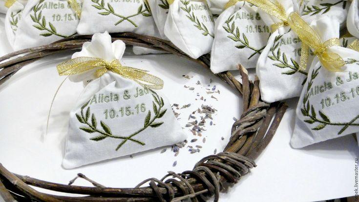 Купить Свадебные подарки гостям Персональные саше лаванда прованс 50 шт Набор