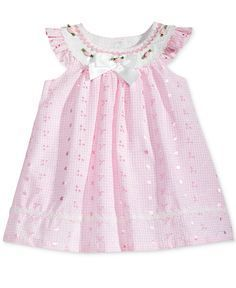 Bonnie Baby Flutter-Sleeve Eyelet Trapeze Dress, Baby Girls (0-24 months) - All Baby - Kids & Baby - Macy's