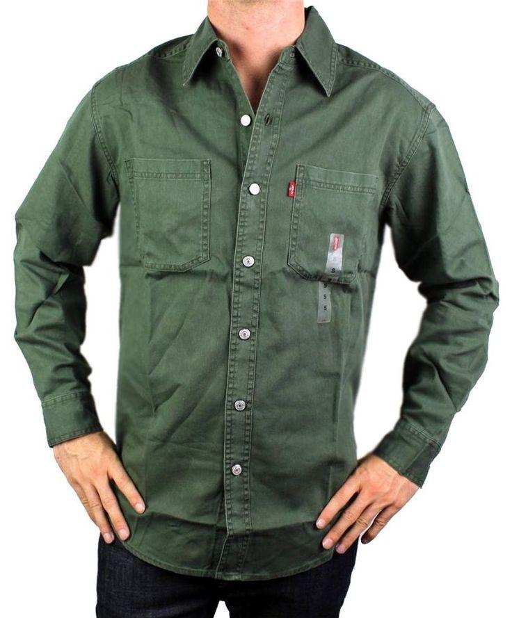 Levi's green denim shirt