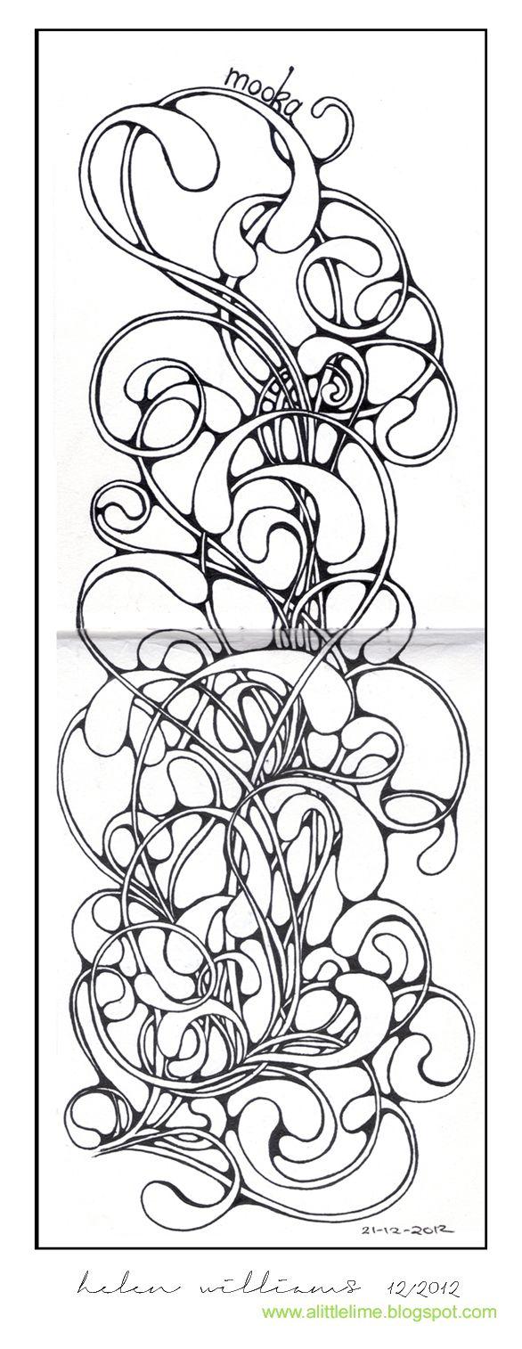 a little lime - pattern journal - mooka