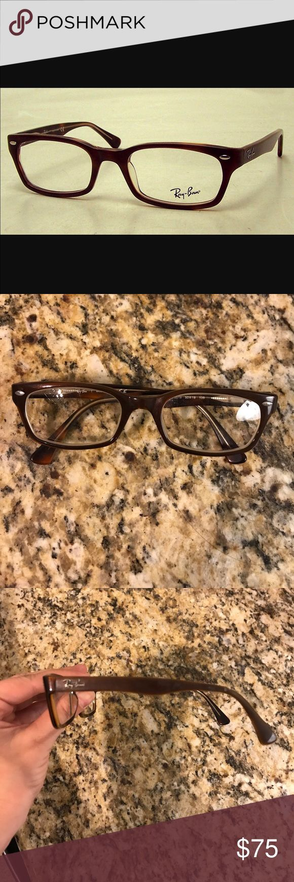 RayBan eyeglasses Rayban eyeglass frames. Brown. These have prescription lenses in them but they can be changed. No case. Used. Ray-Ban Accessories Glasses