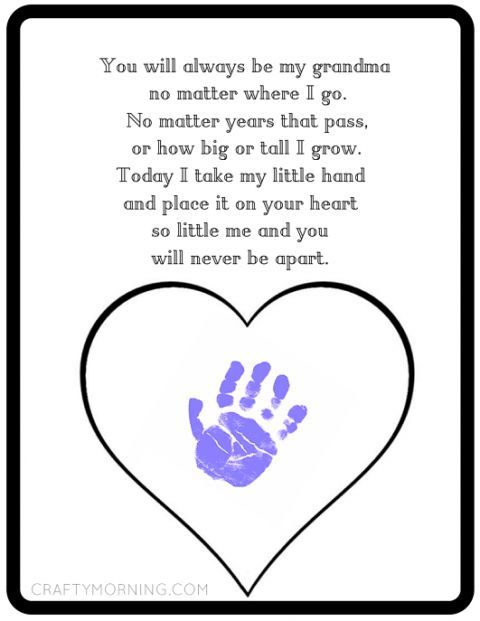 printable mother 39 s day gift idea for grandma kids handprint craft idea handmade gift ideas. Black Bedroom Furniture Sets. Home Design Ideas