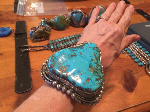 283G - Beautiful Huge Museum Quality Native American Royston Turquoise Cuff Bracelet  no, not this one either........