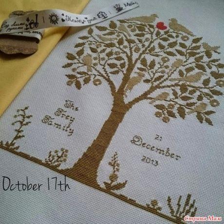 Семейное дерево - Вышивка и все о ней - Страна Мам