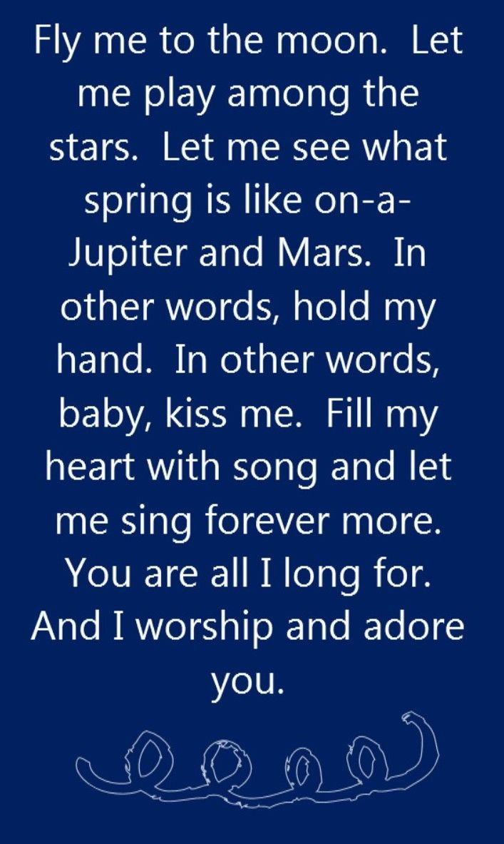 Frank Sinatra Fly Me to the Moon song lyrics song quotes songs