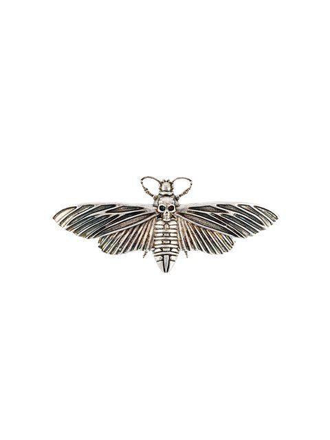 ALEXANDER MCQUEEN skull moth brooch. #alexandermcqueen #brooch