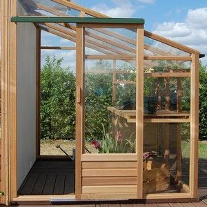 The Lean-To style greenhouse has been a popular addition to the garden since Victorian times. The wall acts as a heat source so that fruit trees and vines that are normally suited to a warmer climate can flourish. http://www.harrodhorticultural.com/growhouse-cedar-6ft-x-8ft-lean-to-greenhouse-pid9150.html Lean-To Cedar Greenhouse - Garden Supplies at Harrod Horticultural