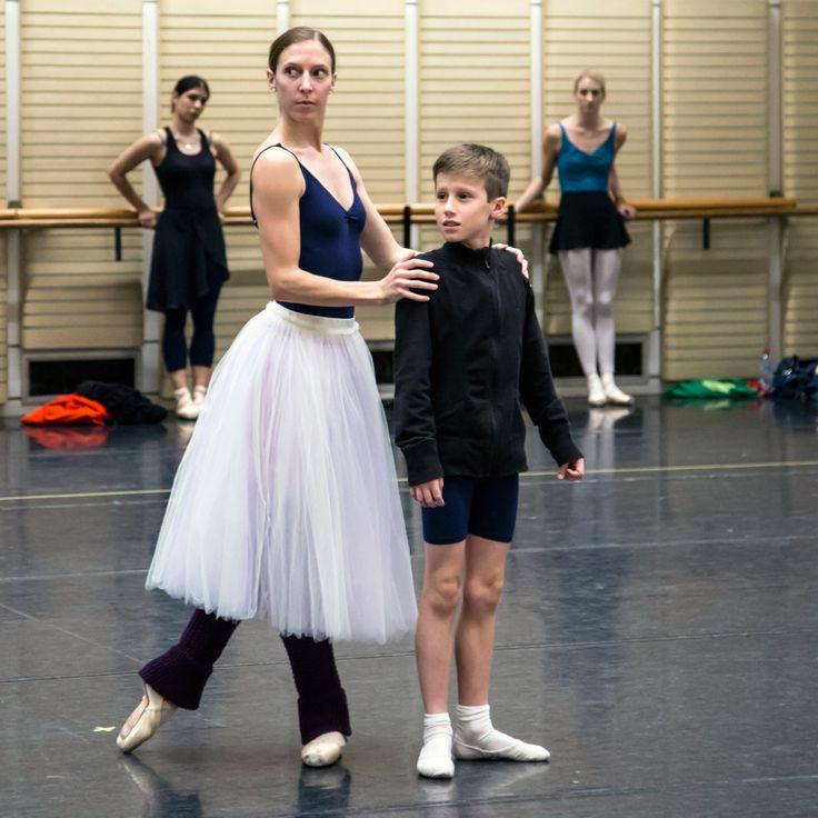 Lana Jones and Ben (ITP student of The Australian Ballet School rehearsing with The Australian Ballet).