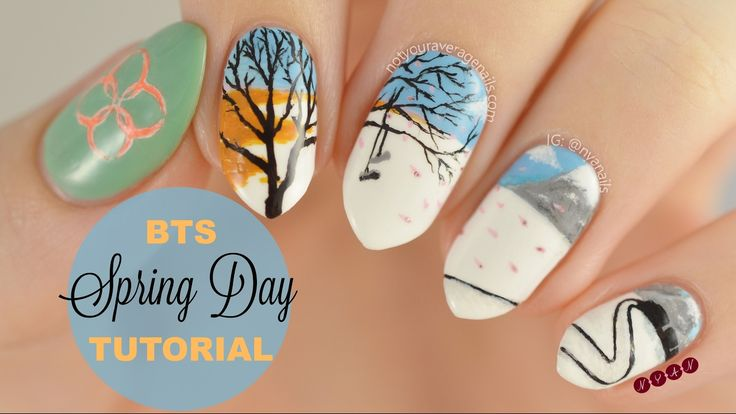 #BTS #SpringDay Inspired Nail Art Tutorial