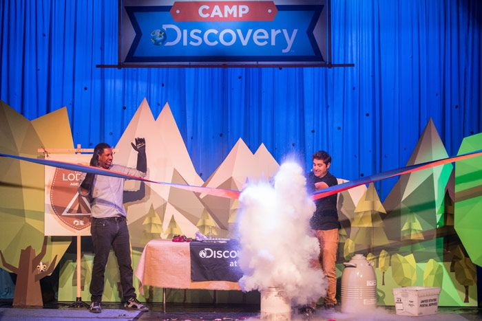 Princess Cruises and the Discovery Channel introduced a new program for children by replacing scissors with liquid nitrogen. It's not easy to capture the attention of children, but Princess Cruises and Discovery Channel found a way at a July 17 event.