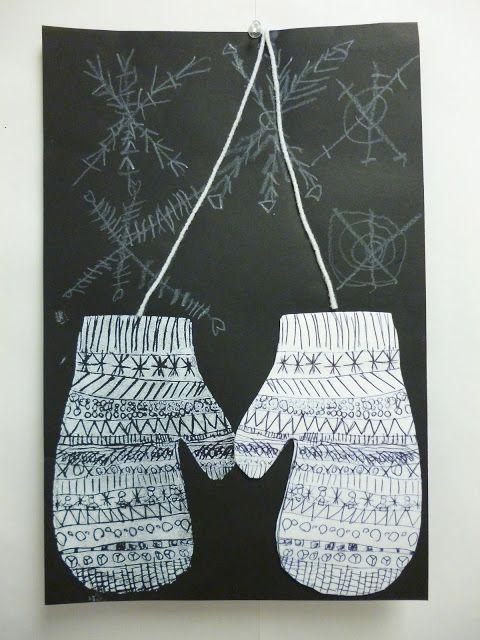 Stryrofoam print mittens- 1st grade