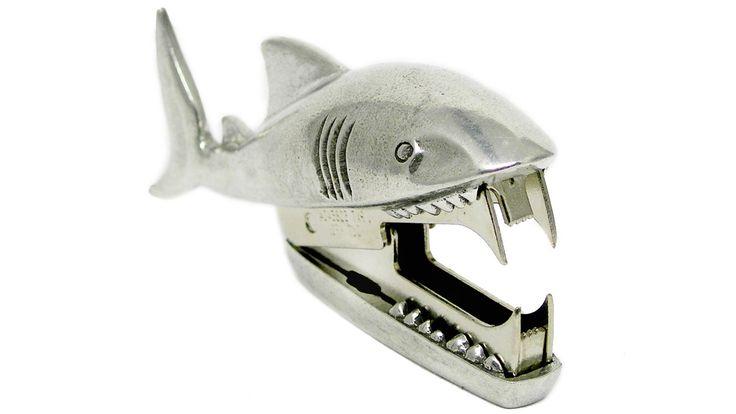 Shark Staple Remover: Bite Staple, Shark Staple, Office Supplies, Jac Zagoory, Sharks, Zagoory Designs, Shark Bites