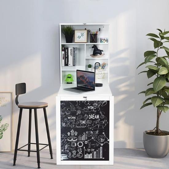 etagere murale rabattable bureau murale table rabattable avec tableau noir etag re