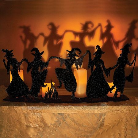 Dancing Witches Candle Holder