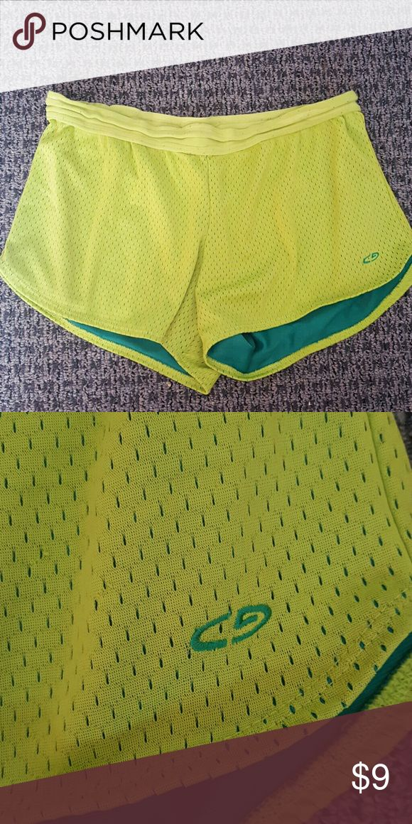 Lime green champion workout shorts Lime green champion workout shorts Champion Shorts