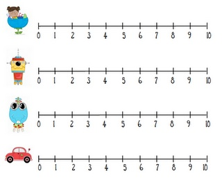 Rare image in printable number line 1 10