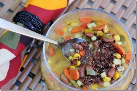 Quinoa & Bean Corn Chowder #soup