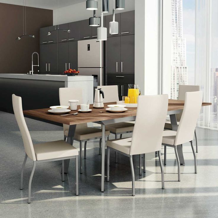 Amisco Linea 7 Piece Dining Set with Zoom