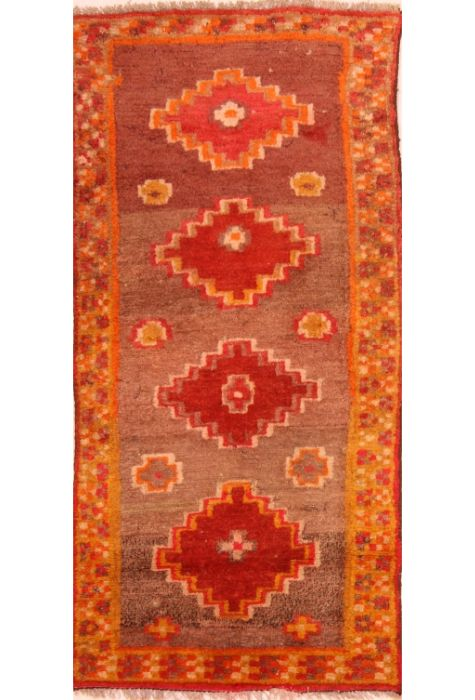 Nepal rug. Wool. Hand Knotted. 69 x 130 http://www.rugman.com/nepal-nepal-design-oriental-area-rug-small-size-wool-multi-color-rectangle-253-24023
