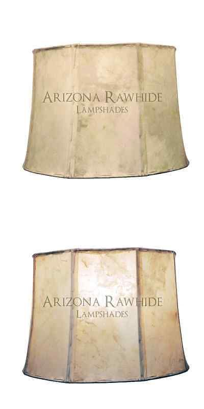 Lamp Shades 20708: Southwestern Rawhide - Leather Lamp Shade-14 Hx21 Wx18 Top -Off White Color -> BUY IT NOW ONLY: $373.95 on eBay!