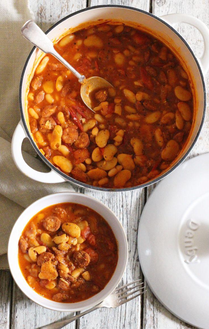 Chorizo Bean Stew - The Little Green Spoon