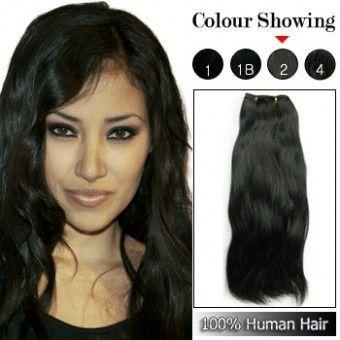 16 Inches Brazilian Human Hair Weft 01 Brazilian Straight Hair Hair Weft Brazilian Human Hair