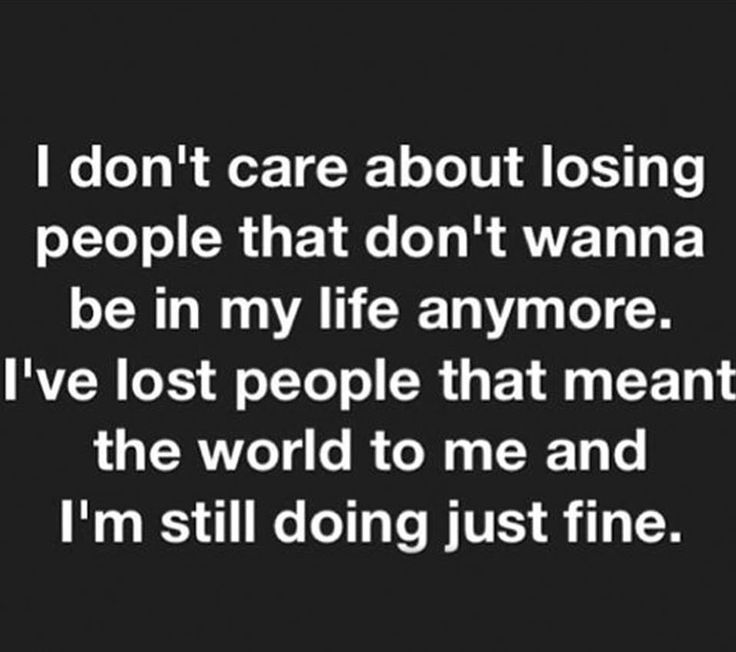 Sometimes you got to cut people out of your life