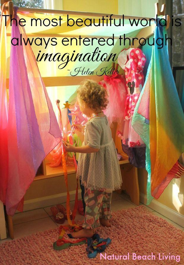 Easy Princess dress up corner, little girls dress up area, Fairytale, Princess, Kids spaces, Waldorf, Fantasy, Imaginary play, www.naturalbeachliving.com