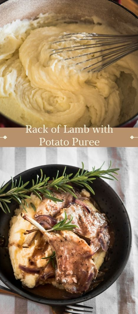 Easter rack of lamb with creamy, rich pureed potatoes. A super delicious and stress-free dinner to feed the family.