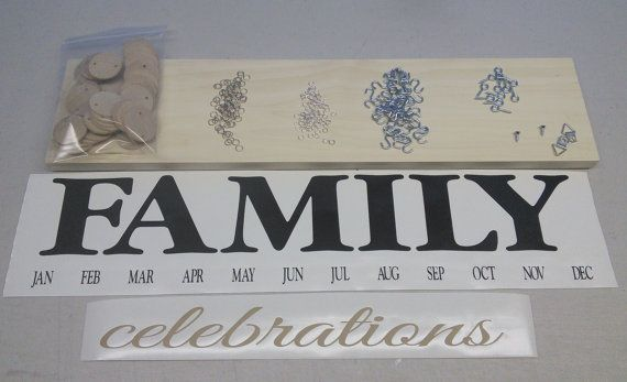 Family Birthday Board  DIY Kit  Do It Yourself by SignChik on Etsy