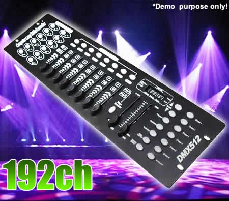 DJ Party Light Control Console with DMX Output & Built-In Microphone perfect for house party!