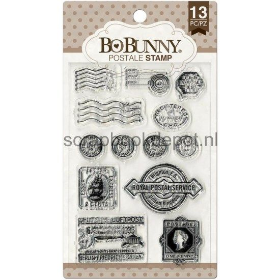 BoBunny clear stamps - Postale