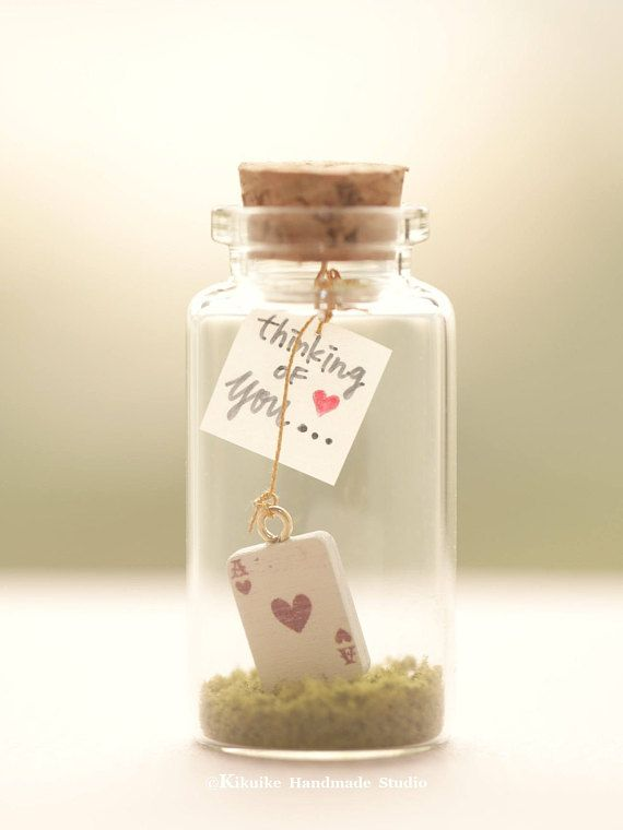 Personalised Valentines Day Gift for Him Her Message in a Bottle with Gift Box