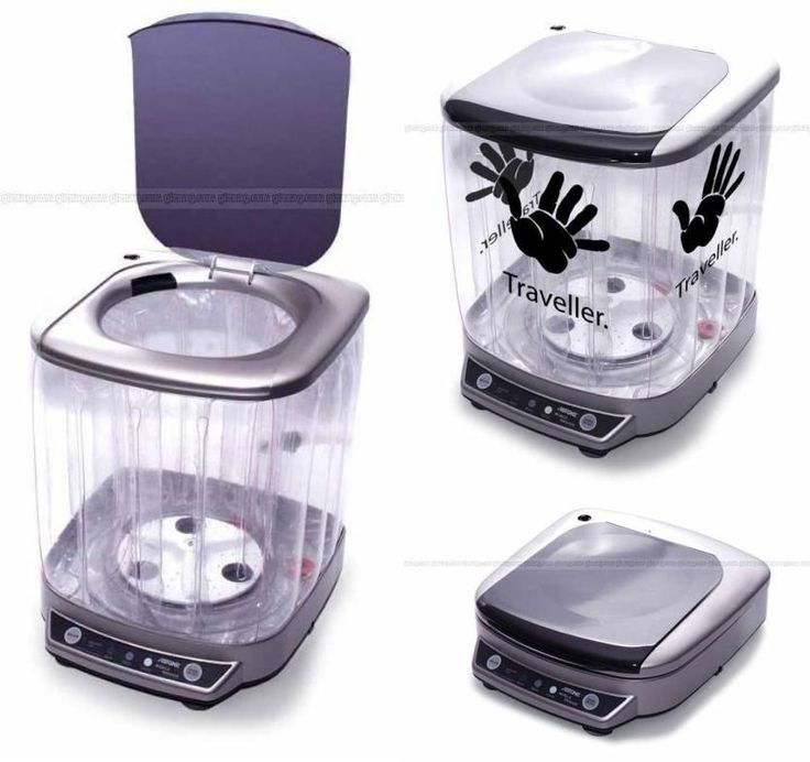 During traveling, laundry is a problem for traveler. Now, there is a new washing machine which has folding function for those travelers. This mini washing machine cost around $70. the weight of the washing machine is 2 kg and available capacity of 6.5 liters of water. ManLingLorraineT