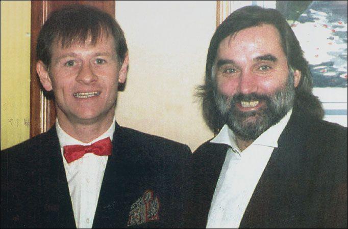 "Alex ""Hurricane"" Higgins & George Best."