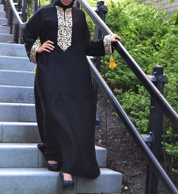 Golden Noir Abaya