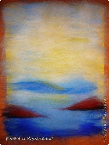 Валяние - Картина из шерсти Ранняя осень