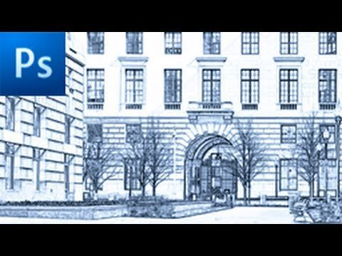 ▶ Photoshop Tutorial: Photo to Sketch in Seconds! -HD- - YouTube