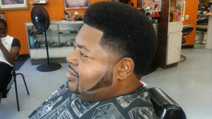 Butter Afro Fade With Pork Chops Sideburns Afro Fade