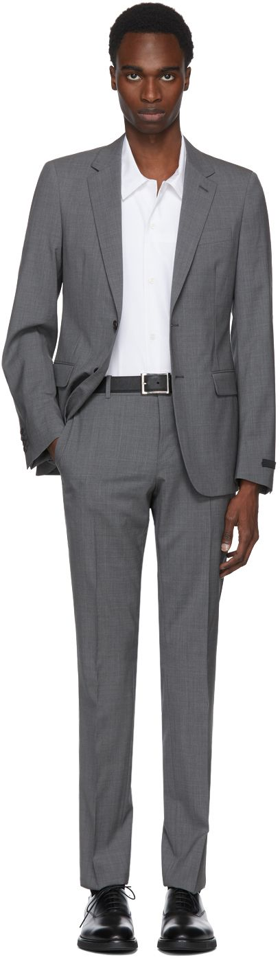 Prada - Grey Lightweight Wool Suit