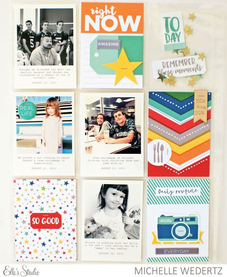 Showcase your favorite memories with this adorable Project Life pocket page by Michelle Wedertz
