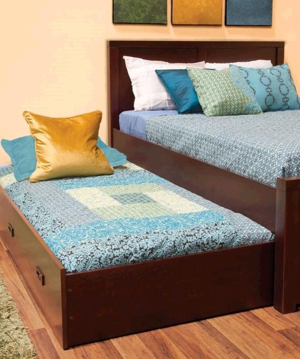 the peyton full size trundle storage bed puts an elegant twist on a modern style