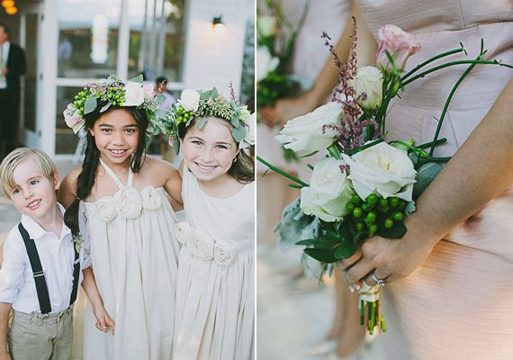 Rose floral crowns | photo by Amber Vickery Photography | 100 Layer Cake