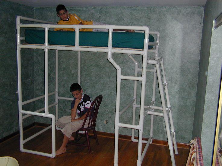 Uau! cama mezanino (beliche) de PVC. DIY