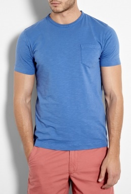 A typical Eric look (pocket tee and shorts) just spruced up with a tighter fit and colored shorts