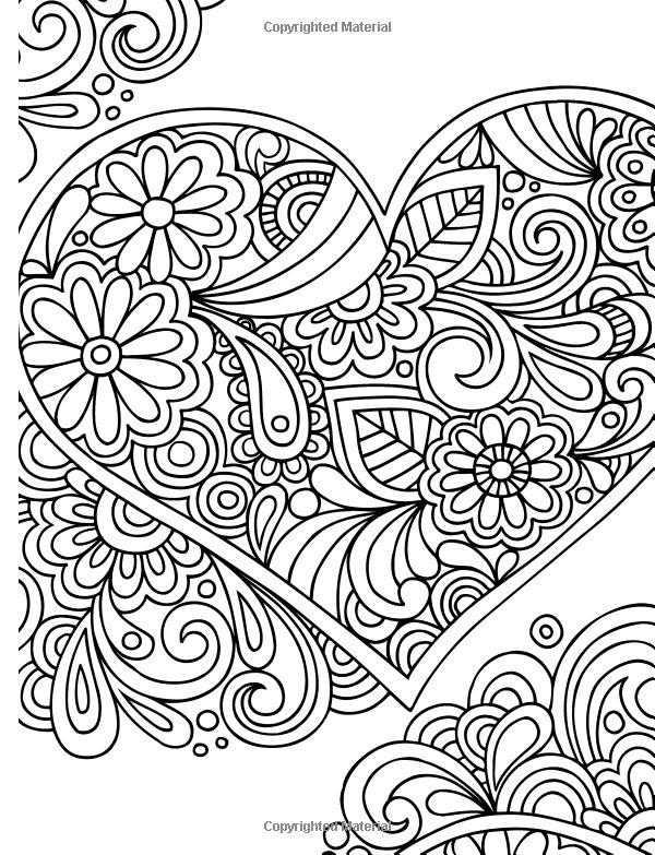 calming coloring pages for adults printable | 60 best Valentine's Day Coloring Pages images on Pinterest