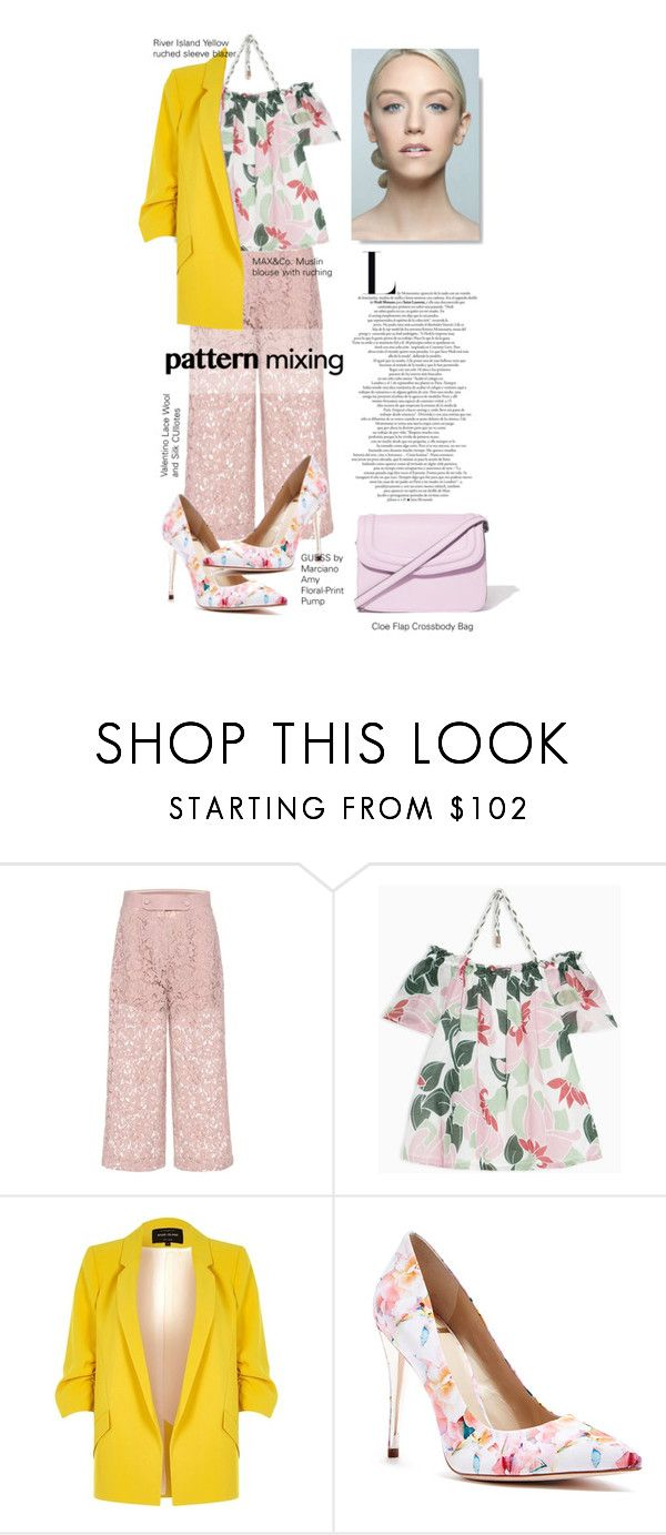 """""""Pattern Mixing"""" by meetyesintacin on Polyvore featuring Valentino, Max&Co., River Island and GUESS by Marciano"""
