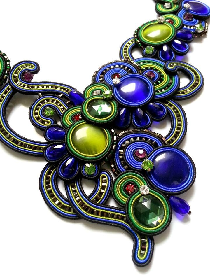 soutache necklace mishtiart blogspot com follow me