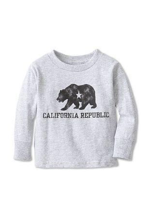 71% OFF Little Dilascia Kid's California Republic Bear Long Sleeve Tee (Grey)